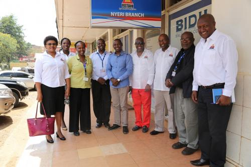 mt kenya regional office with members of board